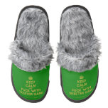 [Crown] keep calm and fuck with skeeter gang  (Fuzzy) Slippers Pair Of Fuzzy Slippers