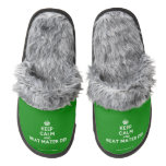 [Crown] keep calm and beat mater dei  (Fuzzy) Slippers Pair Of Fuzzy Slippers