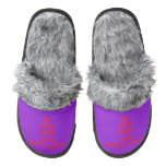 [Crown] keep calm and love nicky longo  (Fuzzy) Slippers Pair Of Fuzzy Slippers