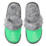 [Crown] bly kalm dis amper lang- naweek  (Fuzzy) Slippers Pair Of Fuzzy Slippers