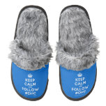 [Crown] keep calm and follow #dhc  (Fuzzy) Slippers Pair Of Fuzzy Slippers