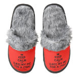 [Camera] keep calm and (like) my pic for a (tbh)  (Fuzzy) Slippers Pair Of Fuzzy Slippers
