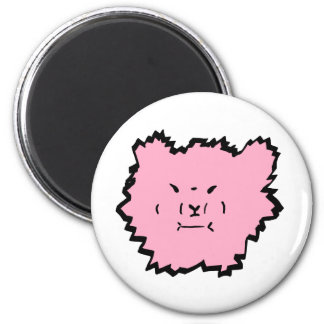 fuzzy the angora pink 2 inch round magnet