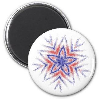 Fuzzy USA Star Magnet