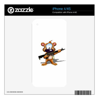 Fuzzy With A gun assault rifle Decal For iPhone 4S