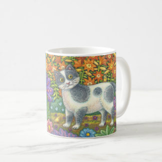 Fuzzy Wuzzy Kitten FOLK ART CAT MUG *Customize