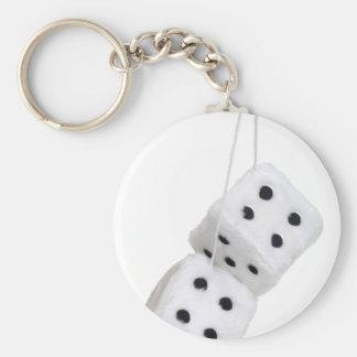 FuzzyDice091209 Basic Round Button Keychain