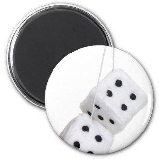 FuzzyDice091209 Fridge Magnet