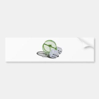 FuzzyDiceOnExerciseWheel030313.png Bumper Sticker