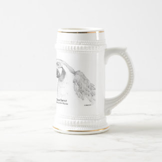 FV - Chaco Parrot - Any Size, Style or Color of 18 Oz Beer Stein
