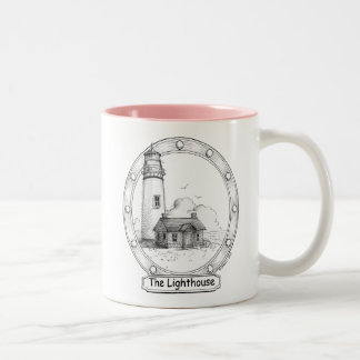FV - The Lighthouse - Any Size, Style or Color of Two-Tone Coffee Mug