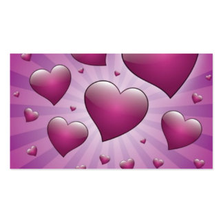 FVHWRV  PURPLES RAYS HEARTS LOVE FRIENDSHIP FLIRTI Double-Sided STANDARD BUSINESS CARDS (Pack OF 100)