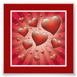 FVHWRV  REDS RAYS HEARTS LOVE FRIENDSHIP FLIRTING PHOTO PRINT