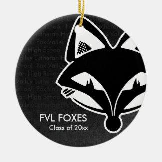 FVL Foxes Class of Ceramic Ornament