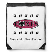 FVL Foxes Customizable Drawstring Backpack