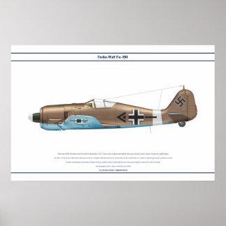 Fw-190 A-4 JG2 5 Póster