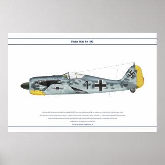 Fw-190 A-4 JG2 6 Póster