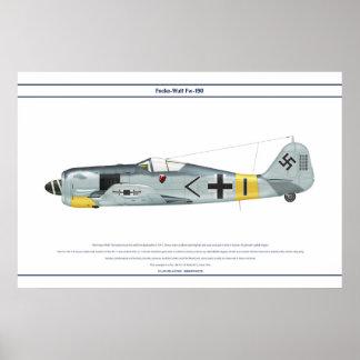 Fw-190 A-5 JG11 1 Poster