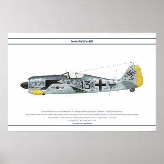 Fw-190 A-5 JG26 1 Poster