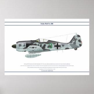 Fw-190 A-6 JG300 1 Póster