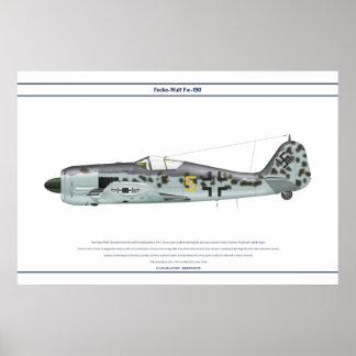 Fw-190 A-6 JG54 1 Póster