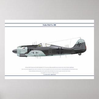 Fw-190 A-6 NJG10 2 Póster