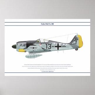 Fw-190 A-8 JG26 1 Poster