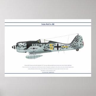 Fw-190 A-8 JG300 3 Póster