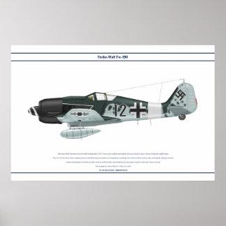 Fw-190 A-8 JG3 1 Póster