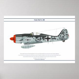 Fw-190 A-8 JG51 1 Poster