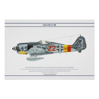 Fw-190 A-9 JG301 2 Póster