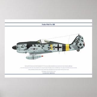 Fw-190 A-9 JG5 1 Póster