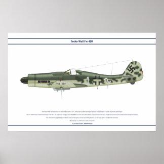 Fw-190 D-9 JG51 1 Póster