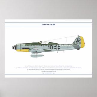 Fw-190 D-9 JG54 1 Póster