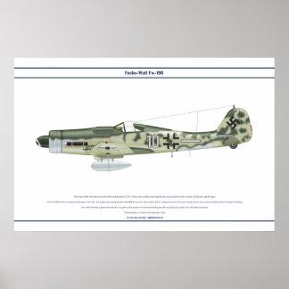 Fw-190 D-9 JG6 2 Póster