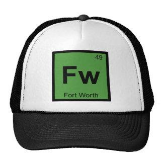 Fw - Tabla periódica de la química de Fort Worth Gorros