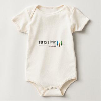 FX White Logo Baby Bodysuit