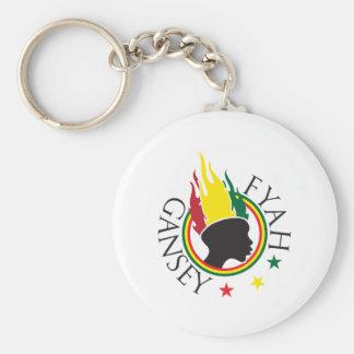Fyah gansey5 basic round button keychain