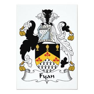 "Fyan Family Crest 5"" X 7"" Invitation Card"