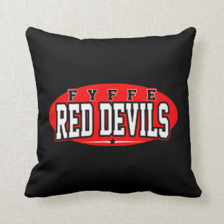 Fyffe High School; Red Devils Throw Pillow
