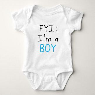 FYI: I'm a BOY Baby Bodysuit