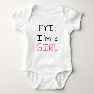 FYI: I'm a GIRL Baby Bodysuit