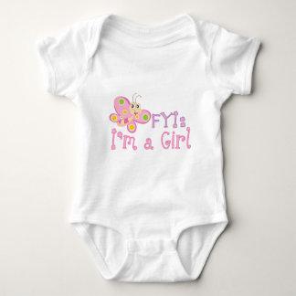 FYI: Im a Girl Butterfly Baby Bodysuit