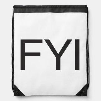 FYI DRAWSTRING BAG