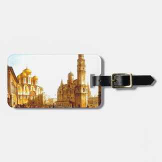 Fyodor Alekseyev:Cathedral Square,Moscow Kremlin Tag For Bags