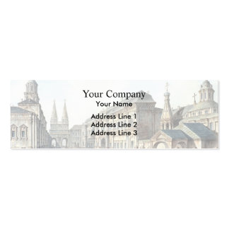 Fyodor Alekseyev- North side of Red Square Business Card Templates