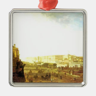 Fyodor Alekseyev-The Admiralty & the Winter Palace Christmas Ornament
