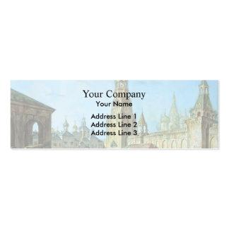 Fyodor Alekseyev- View from Kremlin's Spassky Gate Business Card Templates