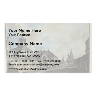 Fyodor Alekseyev- View from the Lubyanka square Business Card Template