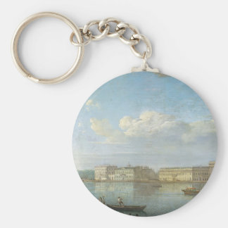 Fyodor Alekseyev- View of the Palace Embankment Key Chain